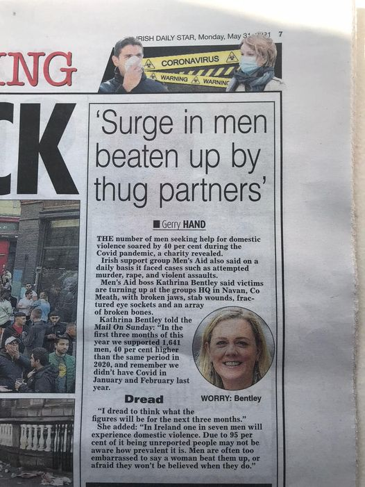 Surge in men beaten up by thug partners