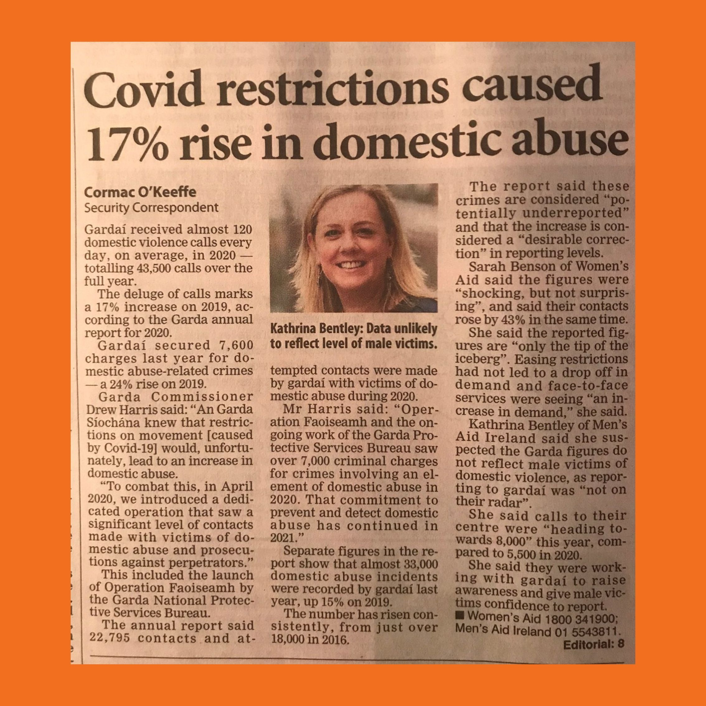 Covid restrictions caused 17% rise in domestic abuse
